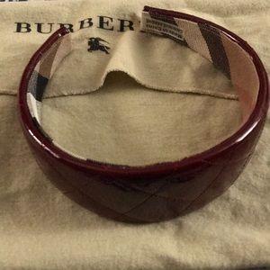 Burberry Red patent headband